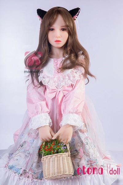 紗莉奈132cm微乳超可愛いMOMOロリ巻き毛ラブドール