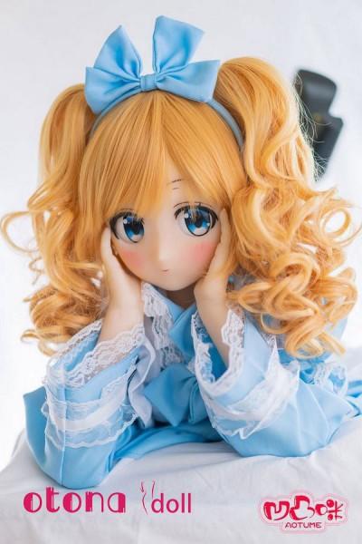 135cm Yuzuha柚葉 AA-cup Aotume Doll#24金髪アニメドール